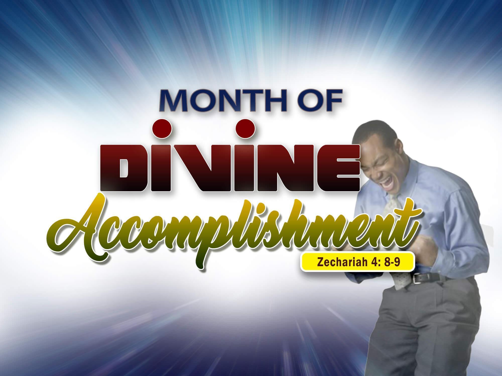 Acomplishment divine accomplishment – rccg mount zion parish regina sk